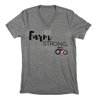 V-Neck Farm Strong T-shirt