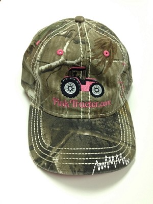 Pink Tractor RealTree Camo Hat
