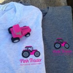 Pink Tractor Logo T-Shirt