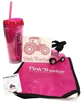 Pink Tractor Tumbler Pack
