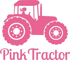 New Product - Pink Tractor Decal