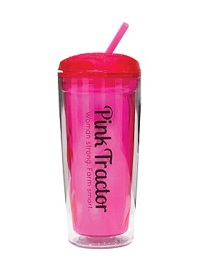 Pink Tractor Tumbler