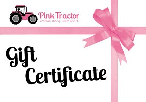 Pink Tractor Gift Certificates